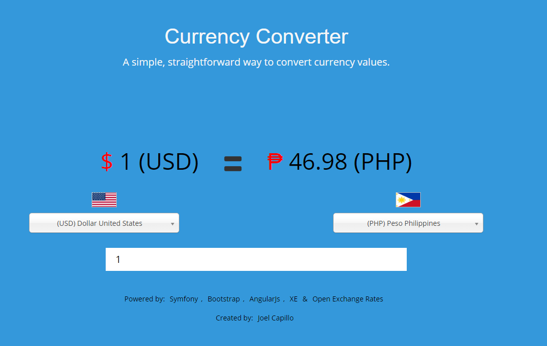 Screen Shot Of Currency Converter Lication